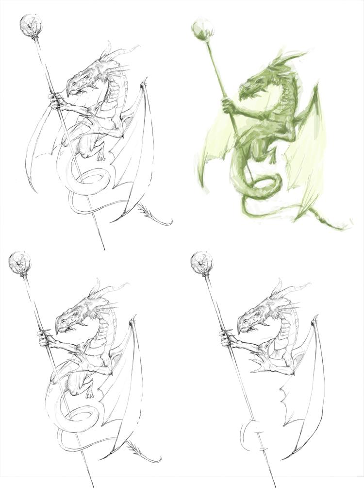 wie zeichne ich einen drachen