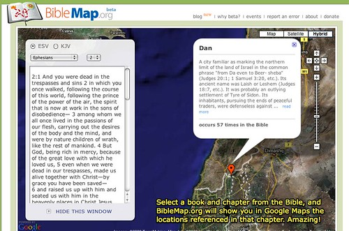 BibleMap.org - connect the Bible to Google Maps