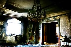 (Julie™) Tags: wallpaper house 3 window julie chandelier burnt f burned
