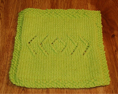 Center Arrows (Poopshe_Bear) Tags: diamonds knitting handmade knit handknit yarn dishcloth cotton arrows knitted cloth spa washcloth facecloth