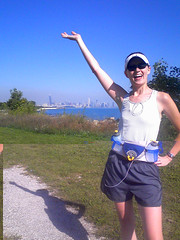 Lindsay running in Chicago 2008