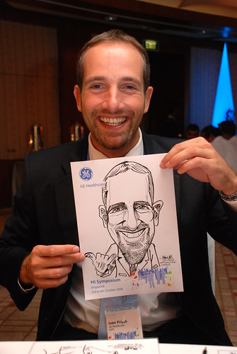 Caricature live sketching for GE Healthcare MI Symposium 11