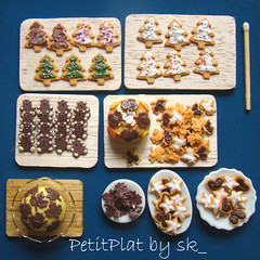 Miniature Food Christmas Cookies (PetitPlat - Stephanie Kilgast) Tags: christmas cake feast cookie biscuit icing minifood fte nol 112 collectibles minis dollhouse gteaux gteau dollshouse miniaturefood miniaturen oneinchscale