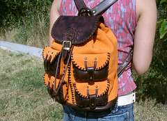zaino con 4 tasche (Mariko-y) Tags: italy leather bag arte tuscany roberto toscana craftsman zaino borsa pelle artigiano arezzo handemade cuoio fattoamano