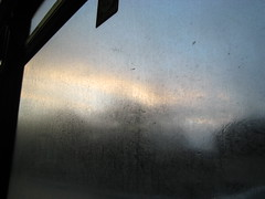 clear sky foggy window