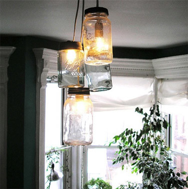3114947543 6fc89d0a8d Aprenda a fazer a sua própria luminária com potes de vidro usados