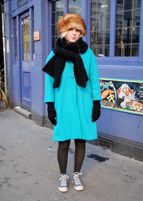 Blue Coat, Fur Hat