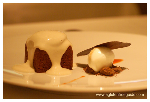 Corton NYC gluten-free chocolate dessert