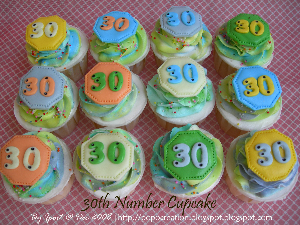 30th Number Cupcake