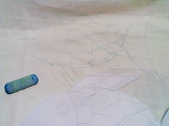 手作。獨處。手畫彩虹珍珠魚