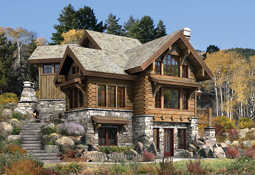 Rustic Luxury Log Cabin | The Targhee,modern,house,design