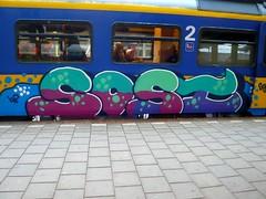 AMF 20081113 8.52 (oerendhard1) Tags: art train graffiti thenetherlands vandalism amersfoort paintedtrain railart