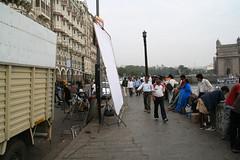 ムンバイ街中で映画の撮影(?)風に出会った