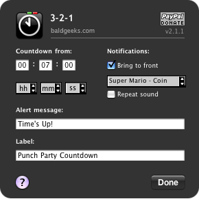 3-2-1(Dashboard timer widget for OS X)-2