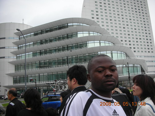 Pacifico Yokohama Hotel in the background