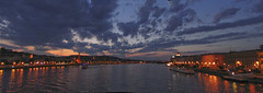 Budapest panorama (Catalin_Pop) Tags: travel sunset sky panorama water canon amazing pod hungary cityscape budapest apa danube nori apus chainbridge excursie budapesta cer oras ungaria dunare fluviu calatorie catalinpop