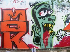 fag (scurvyX1984) Tags: bird graffiti hawaii zombie think beak primo 1984 production characters mok watertank fright 84 frite blasto beak03 proddy