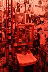 Parlor Sink (senor miller) Tags: lighting red rock austin mirror punk texas sink bluegrass folk tx country vanity posters punkrock strings parlor pickin twang stringed northloop twangzilla senormiller
