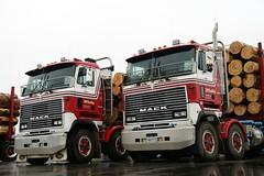 Mack COE Logging Truck (x2) (J e n s) Tags: newzealand truck pentax logging 2006 nz sigma18125 mack istds coe zoomlens jrpq