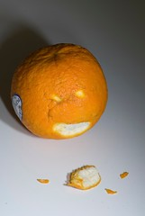 sour orange peeled