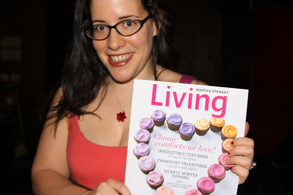 Rachel and Living magazine