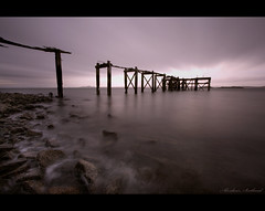 * (Chee Seong) Tags: uk longexposure rock canon evening scotland fife jetty dri hoya aberdour canon1022mm nd400 400d