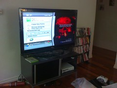"New 47"" LG50 with Gears of War 2"