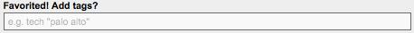 SlideShare Tag Input UI