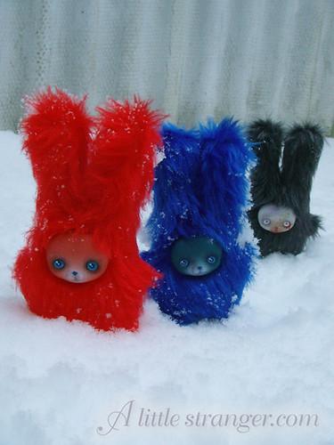 Mini snow bunnies!