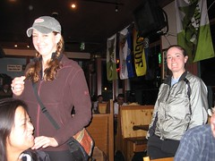 Colleen and Dani at the Issaquah Brew Pub.