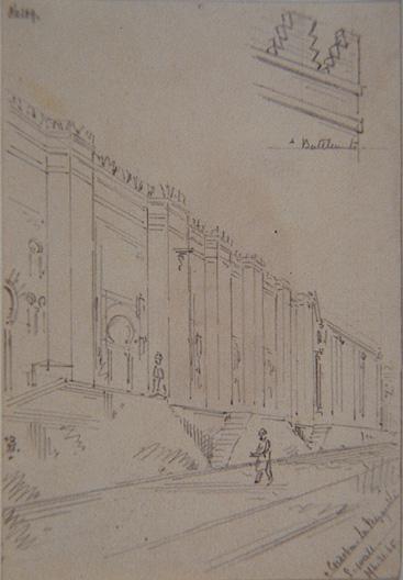 Cordoba. La Mezquita. East Wall (21/03/1865)