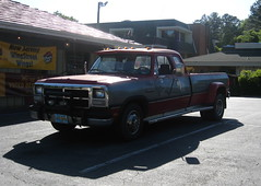 Dodge Ram 350 Dually (NCnick) Tags: red 2 two truck grey nc north pickup 1993 350 carolina dodge 1991 ram tone dually ncnick