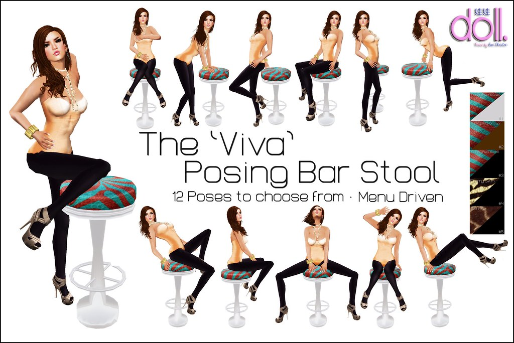[doll.] Viva Bar Stool Multi
