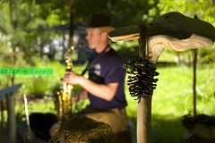 File na Tuaithe by Alison Laredo (alison laredo) Tags: street ireland sculpture man hat wooden dof carving saxaphone mayo pinecone sax 2010 turlough nmi nationalmuseumofireland file museumofcountrylife filenatuaithe turloughpark