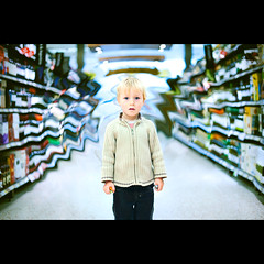 Lost in The Supermarket- Glitch in the Matrix (PMMPhoto) Tags: family boy portrait photoshop lost 50mm nikon photographer wine glasgow 14  lifestyle supermarket aisle hamish nikkor lanarkshire strathaven paulmcgee donotusewithoutpriorpermission pmmphoto paulmcgee