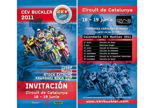 Descarga la invitacion para acudir al CEV Buckler 2011 Circuit Catalunya
