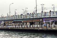 Fishermen (Dystopian Dreamer) Tags: travel bridge canon turkey fishing fisherman istanbul galatar