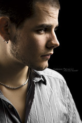 Straight Sight (Korso87) Tags: portrait canon studio profile sight f28 daniele earing 1755 strobist