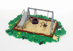 Empty Swingset (-Mainman-) Tags: for lego head contest apocalypse hills swingset diorama nosurvivors postapoc foitsop apocalego headforthehillsapocalegocontest