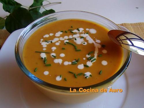 Crema de Calabaza y Zanahorias al foie-grass