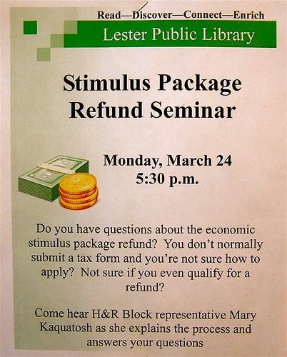 Stimulus Package Refund Seminar