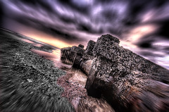 Pipe Dreams (BarneyF) Tags: sea seascape motion color beach landscape dream soe hdr crosbybeach 7exp llovemypics