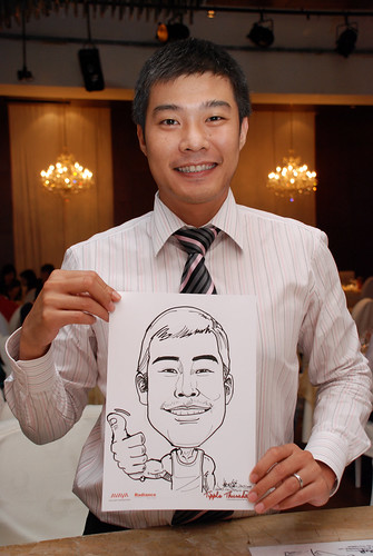 caricature live sketching Singtel Radiance Communications Avaya 12