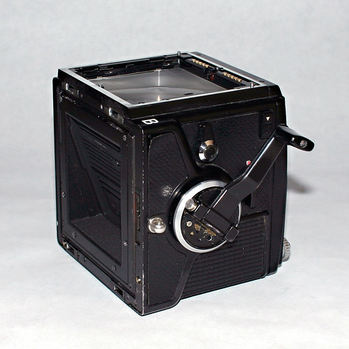 Bronica SQ-A body, rear perspective
