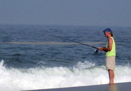 Surf fishing at Tenacatita