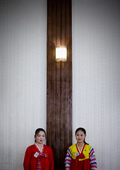 Kaesong National restaurant - North Korea (Eric Lafforgue) Tags: pictures travel girls woman girl female del asian photo women asia republic femme picture korea il kimjongil korean socialist asie waitresses coree fille norte northkorea nk koreans ideology axisofevil coreen dictatorship  eastasia sung  corea dprk  stalinist juche kimilsung northkorean 9151 coreenne lafforgue kimjungil  democraticpeoplesrepublicofkorea  ericlafforgue   coreadelnord   coreedusud dpkr northcorea ericlafforguecom earthasia coreennes juchesocialistrepublic coreedunord rdpc koreankim jongilkim peninsulajuche  stalinistdictatorship jucheideology kimjongilasia insidenorthkorea   demokratischevolksrepublik