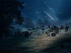 Heavenly night (Sunset Sailor) Tags: cemetery graveyard night stars mywinners artlibre betterthangood phosphorussky texturebyjanineartpluslove inspiredbyisabelleann