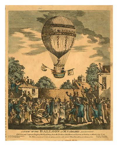 07-- Globo de Mr Sandler's ascendiendo con el Capitan Paget de la Royal Navy en 1811