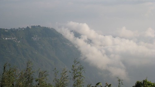 Clouds roll over Darjeeling