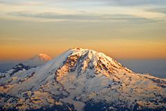 Bathing in the morning sun! (mcazadi) Tags: morning light sky snow cold clouds plane sunrise flying amazing warm shots air mountrainier mountadams theperfectphotographer absolutelystunningscapes